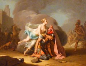 09_Aeneas_wird_von_Venus_in_eine_Wolke_gehuellt,_Anton_Wilhelm_Tischbein