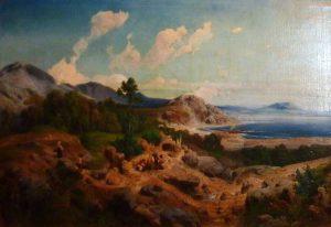 14_Italienische_Landschaft,_1855,_Friedrich_Karl_Hausmann