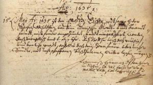 Kirchenbuch_Eichen_Eintrag_Mai_1635