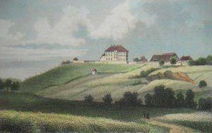 Stadtansichten_Schloss-Naumburg-um-1850