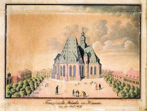 Stadtansichten_Wall.-ndl.-Kirche-um-1820