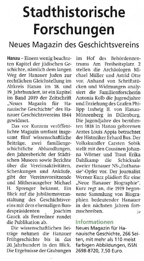 Hanauer Anzeiger 17.04.2020