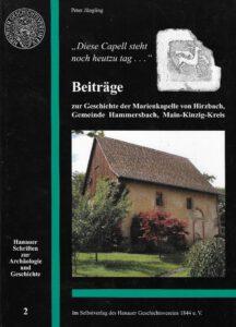 Cover Band 2 Hanauer Schriften zur Archäologie und Geschichte