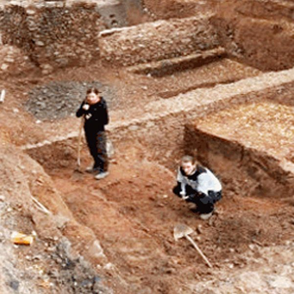 Archäologische Grabungen Lorscheider/Freiheitsplatz Hanau 2010